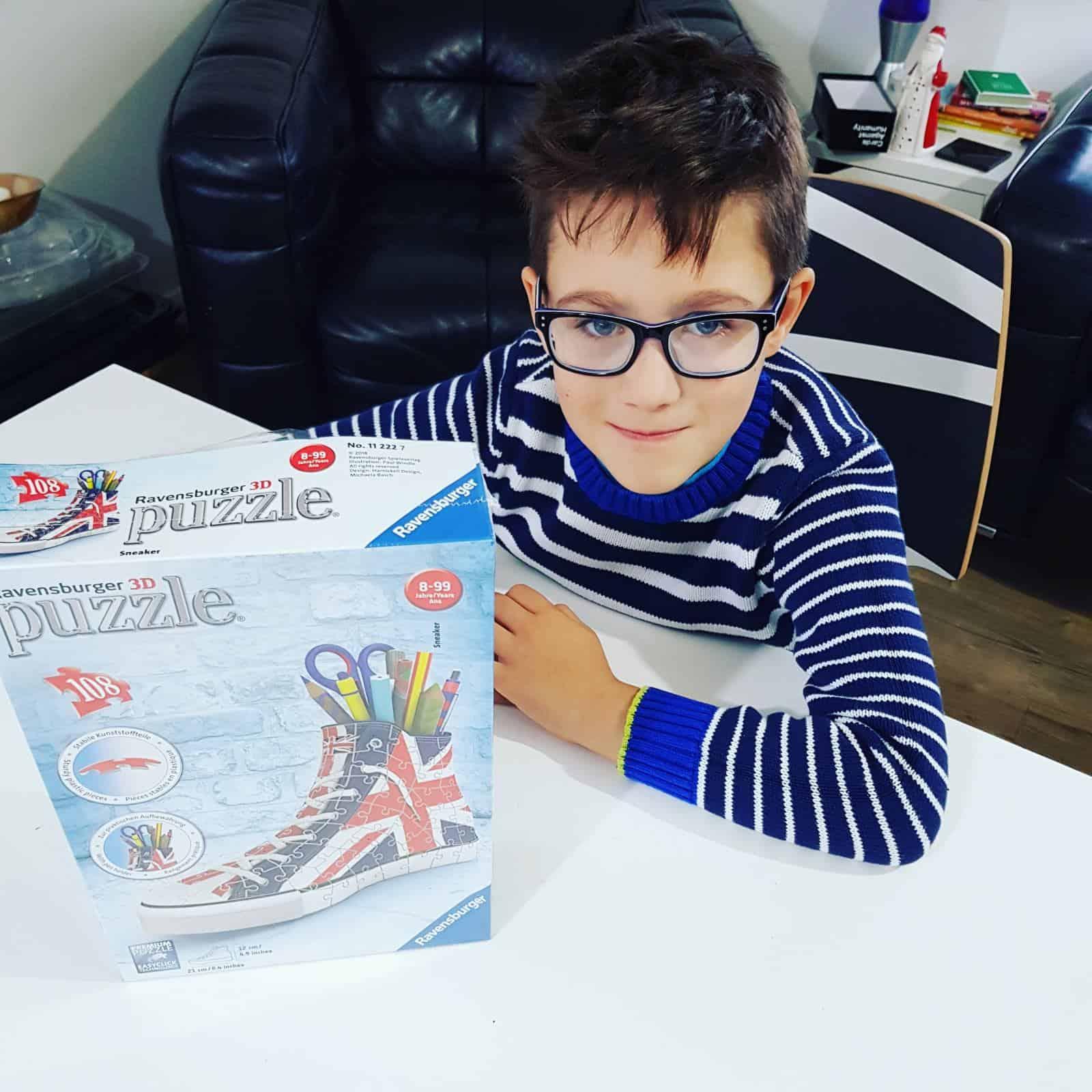 Ravensburger 3D Puzzle - Union Jack trainer pencil case