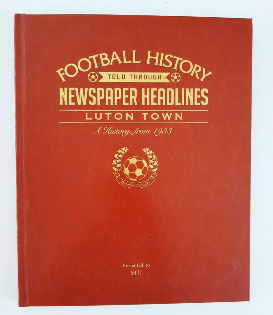 Personalised Football History - Newspaper Headlines Luton. Featured in this Father's Day Gift Guide #personalisedfathersday