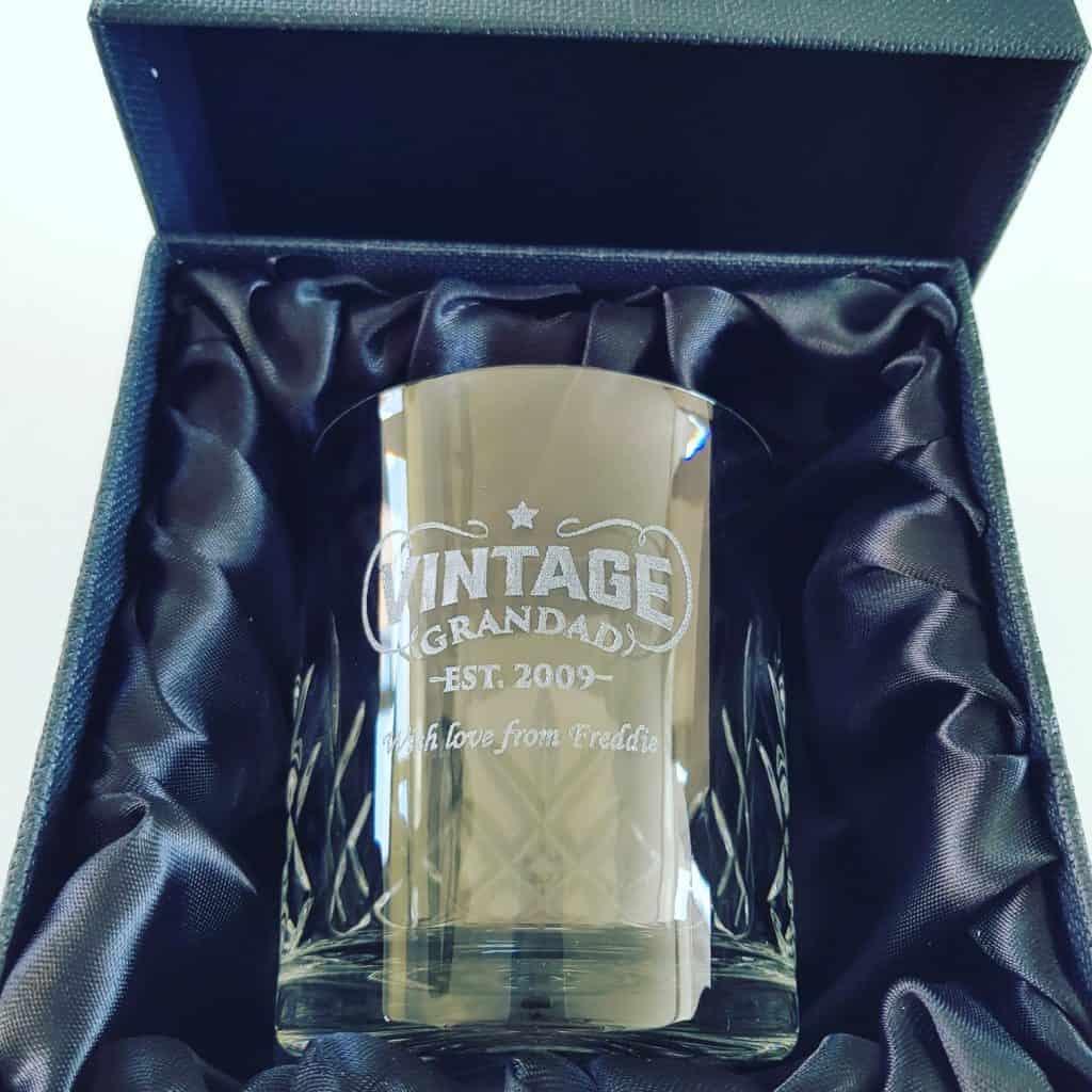 Personalised Grandad Whisky Glass