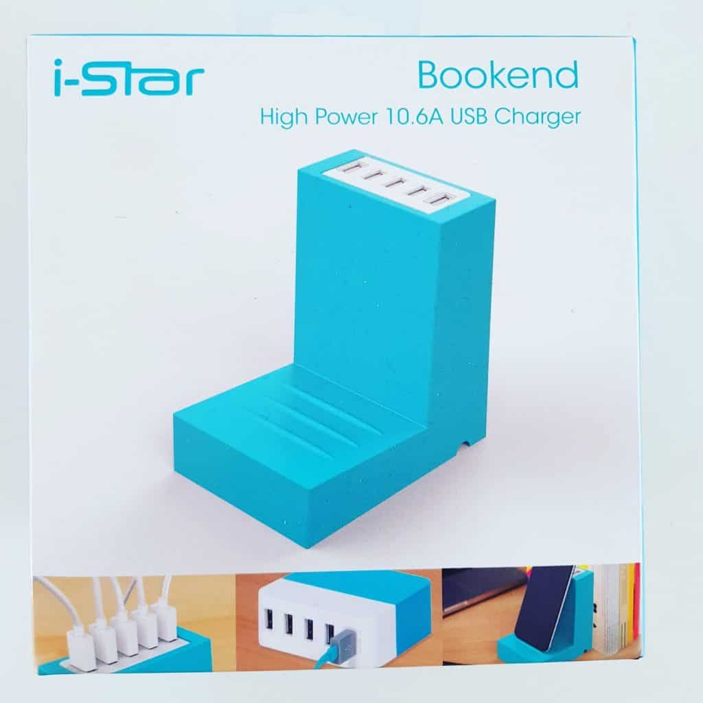 High Power Bookend USB Charger