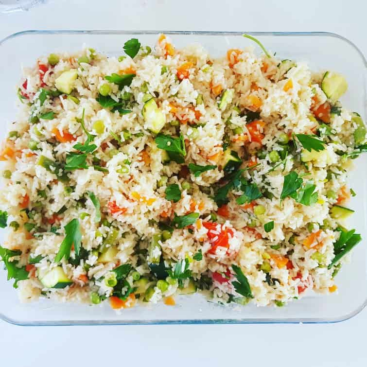 Vegetable Risotto, zero syns on Slimming World and perfect for a BBQ #bbq #slimmingworld