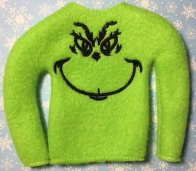 Elf on the shelf accessories Grinch jumper