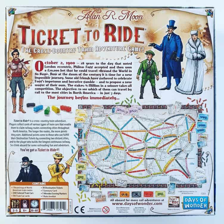Ticket to Ride USA Board Game Review