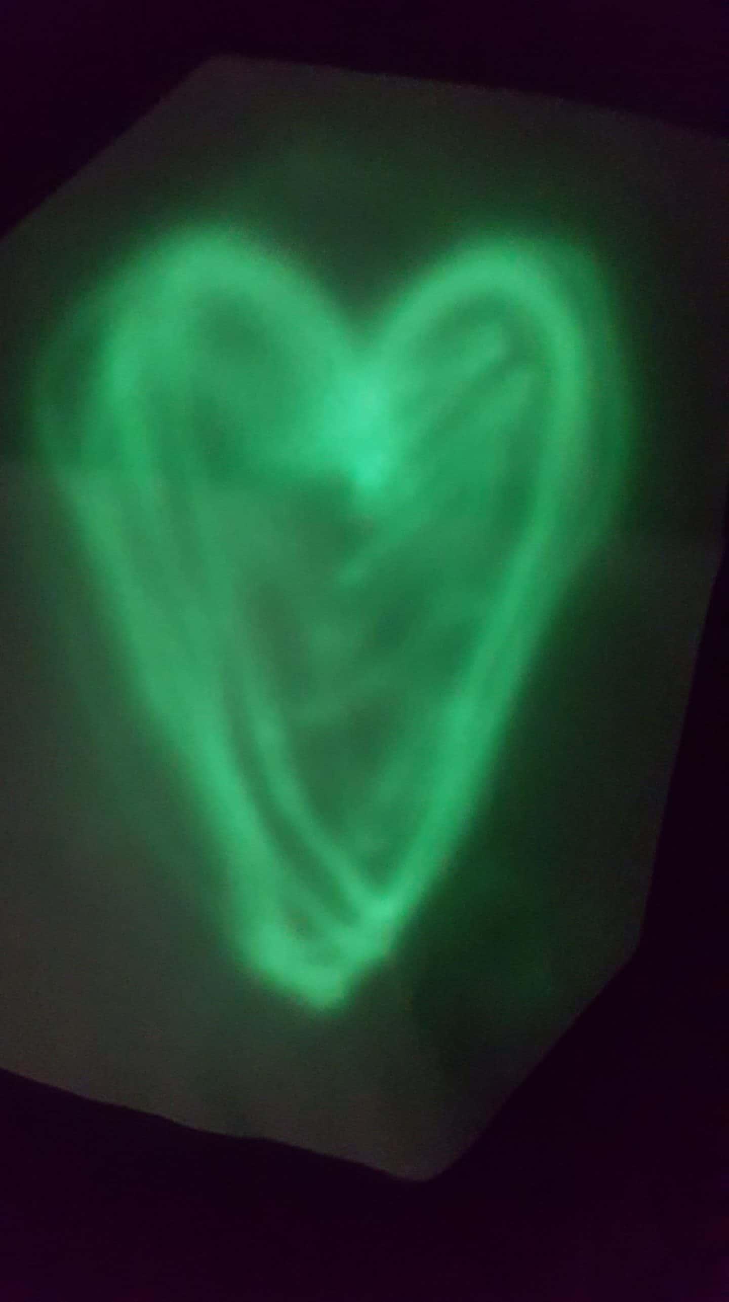 illuminated apparel t shirt heart shape