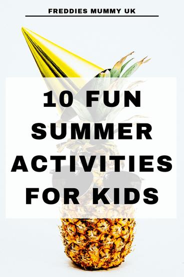 10 fun summer activities for kids  #summer #activities #kidsactivities