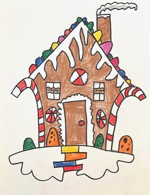 Art for Kids Hub Christmas Ginger Bread House